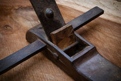 Wood plane tool Royalty Free Stock Image