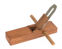 Wood planer. Close up new wood planer  on white background Stock Photos