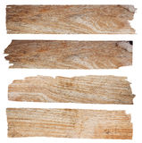 Wood plank. Set of wood plank isolated on white background (Save Paths For design work royalty free stock images