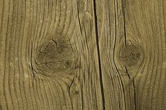 Wood plank. Close up view on rustic old  plank with knots Stock Photo