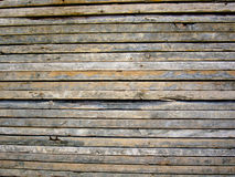 Wood plank background. Used wood plank background with cement used for construction Stock Photo