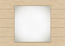 Wood plank background with old paper Royalty Free Stock Photo