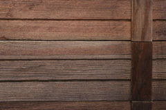 WOOD PLANK BROWN TEXTURE BACKGROUND. Rustic wood plank  texture background; natural old wooden fences Royalty Free Stock Photography