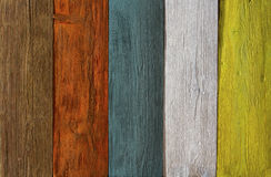 Wood plank colored texture background, painted wooden floor. Wall of multicolor board