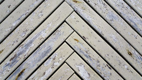 Wood plank fence with an old color Royalty Free Stock Image