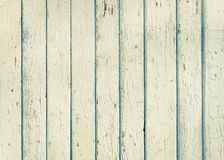 Wood plank fence with an old paint white color close up Stock Photos
