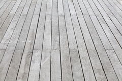 Wood plank floor. White wood plank floor background at terrace royalty free stock images