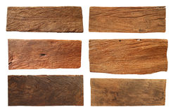 Wood plank. Isolated on white background (Save Paths For design work royalty free stock photography