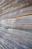 Wood plank lap siding. Aged wood lap siding on an old building Stock Images
