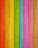 Wood plank rainbow background Royalty Free Stock Photography