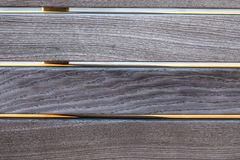 The wood plank texture of the new city bench. The wood plank texture of the new city or town bench Stock Image