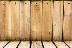 Wood plank wall and floor Royalty Free Stock Photography