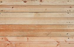 Wood plank wall horizontal background.  stock image