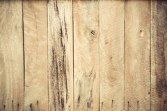 Wood plank wall. Old hard wood plank wall background for design and decoration Royalty Free Stock Images