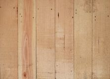 Wood plank wall with vertical stripe pattern.  royalty free stock images