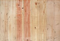 Wood plank wall with vertical stripe pattern.  stock image