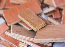 Wood plankabakgrund för skräp Arkivbild