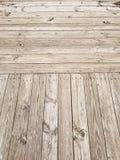 Wood plankastrandpromenad Arkivbild
