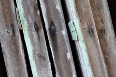 Wood plankatextur med spikar Arkivfoton