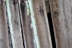 Wood plankatextur med spikar abstrakt bakgrund Arkivfoto