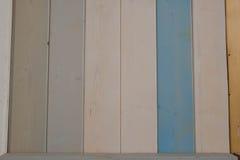 Wood plankatextur och bakgrund för gammal färg Abstrakt wood färgrik texturbakgrund Pastellfärgad wood väggtextur Arkivbilder