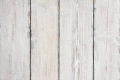 Wood plankatextur, vit trätabellbakgrund, golv Arkivfoton