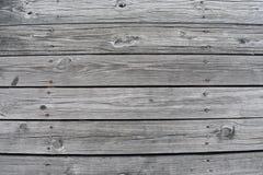 Wood plankor av en skeppsdocka royaltyfri foto