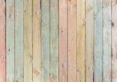 Wood plankor färgad pastellfärgad bakgrund eller textur royaltyfri foto