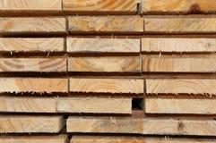 wood plankor för torkad kiln royaltyfria bilder