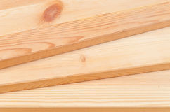 Wood Planks. Staggered Pine Wood Planks Construction Background Stock Photography