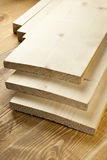 Wood planks. Are on a wooden board Stock Photos