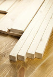 Wood planks. Are on a wooden board Stock Photo
