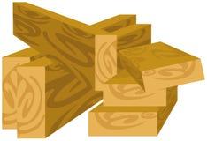 Wood planks. Illustration of isolated wood planks on white Royalty Free Stock Photo