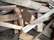 Wood planks. Construction tool - ground Royalty Free Stock Image