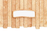 Wood planks background with empty signboard Stock Photo