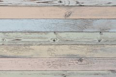 Wood planks background or texture with pastel color planks. Wood planks background with horizontal pastel painted planks royalty free stock photography