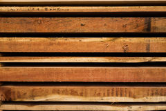 Wood planks cut to size in stack for building materials Stock Images