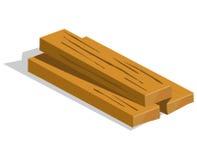 Wood planks isolated illustration Stock Photos
