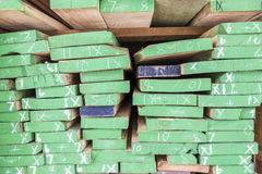 Wood planks prepare in industry Royalty Free Stock Images