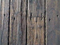Wood Planks. Rustic wood planks of a wooden warf Stock Photo