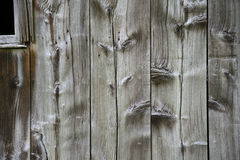 Wood Planks. The side of a very old barn from colonial times taken in  Delaware Water Gap Recreational Park in New Jersey Stock Photos