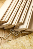 Wood planks with sowdust Royalty Free Stock Image