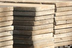 Wood Planks. A stack of wood planks Stock Photography