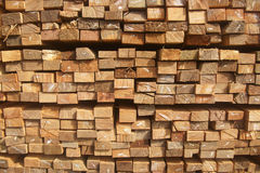 Wood planks stack Royalty Free Stock Images