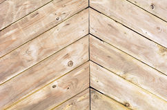Wood planks. Triangle shape of empty wood planks background texture Royalty Free Stock Photography