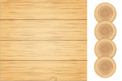 Wood Planks Wall. Vector Illustration Royalty Free Stock Images