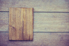 Wood plate Royalty Free Stock Images