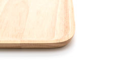 Wood plate on white Royalty Free Stock Photo