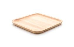 wood platta på vit arkivbilder