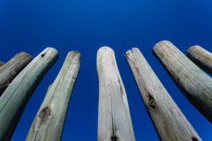 Wood Pole Fence Section  Stock Photography